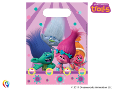 6 Trolls Plastic Loot/ Party Bags